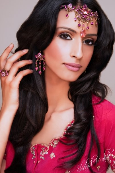 Image is from South Asian Bride. Make up by Shahid Malik.