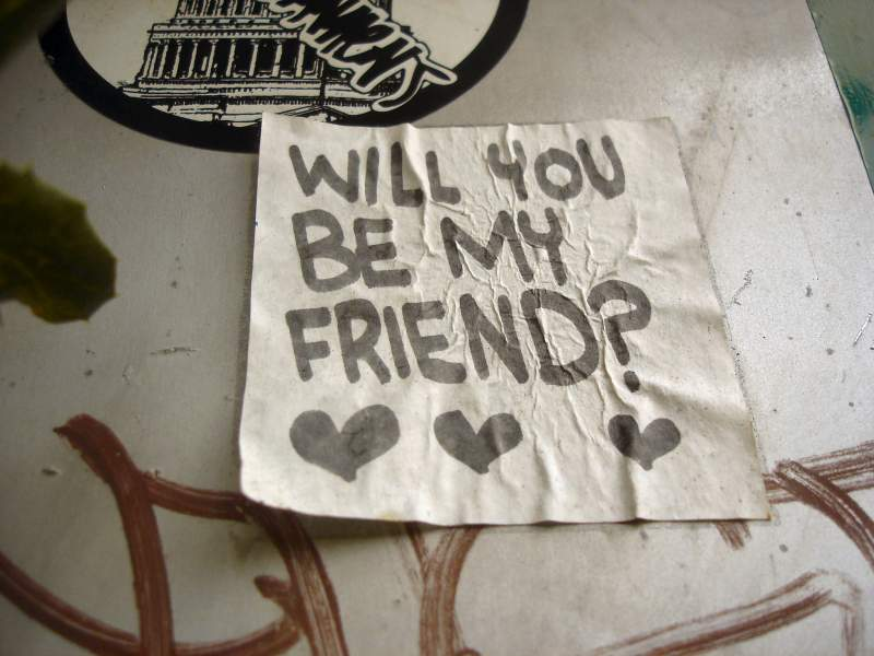 would you like to be my friend